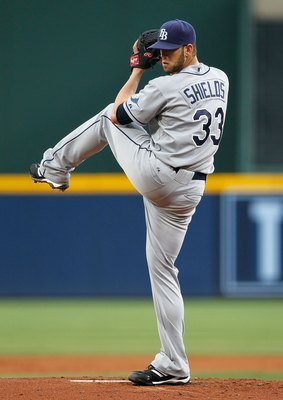 ATLANTA - JUNE 17:  Pitcher James Shields #33 of the Tampa Bay Rays against the Atlanta Braves at Turner Field on June 17, 2010 in Atlanta, Georgia.  (Photo by Kevin C. Cox/Getty Images)