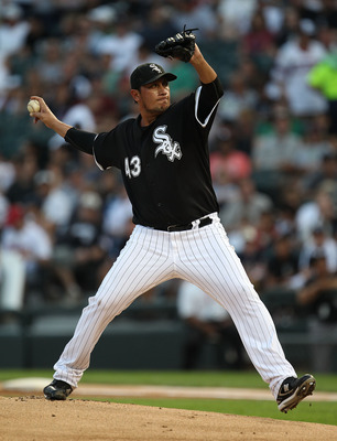 CHICAGO - AUGUST 10: Starting pitcher Freddy Garcia #43 of the Chicago White Sox delivers the ball against the Minnesota Twins at U.S. Cellular Field on August 10, 2010 in Chicago, Illinois. (Photo by Jonathan Daniel/Getty Images)