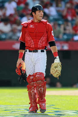ANAHEIM, CA - JULY 11:  U.S. Futures All-Star Austin Romine #4 of the New York Yankees looks on during the 2010 XM All-Star Futures Game at Angel Stadium of Anaheim on July 11, 2010 in Anaheim, California.  (Photo by Jeff Gross/Getty Images)