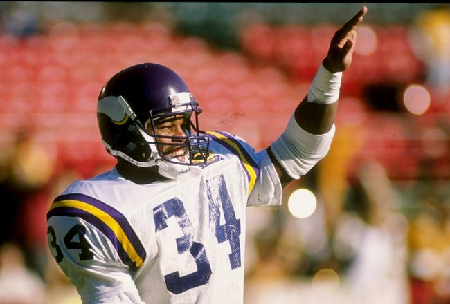 26 Nov 1989: Running back Herschel Walker of the Minnesota Vikings looks on during a game against the Green Bay Packers at Lambeau Field in Green Bay, Wisconsin. The Packers won the game 20-19.