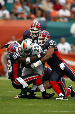 Ronnie Brown was ganged up on repeatedly in 2010, even by the Bills