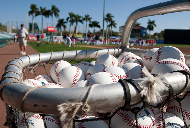 FORT MYERS, FL - MARCH 13:  City of Palms Park just prior to the start of the Grapefruit League Spring Training Game between the Pittsburgh Pirates and Boston Red Sox on March 13, 2010 in Fort Myers, Florida.  (Photo by J. Meric/Getty Images)