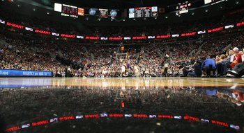 PORTLAND, OR - APRIL 29:  A gereral view of the Phoenix Suns against the Portland Trail Blazers during Game Six of the Western Conference Quarterfinals of the NBA Playoffs on April 29, 2010 at the Rose Garden in Portland, Oregon. The Suns defeated the Bla
