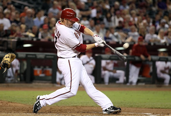PHOENIX - SEPTEMBER 24:  Mark Reynolds #27 of the Arizona Diamondbacks bats against the Los Angeles Dodgers during the Major League Baseball game at Chase Field on September 24, 2010 in Phoenix, Arizona.  (Photo by Christian Petersen/Getty Images)