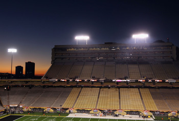 TEMPE, AZ - DECEMBER 28:  General view of the interior of Sun Devil Stadium before the Insight Bowl between the Missouri Tigers and the Iowa Hawkeyes on December 28, 2010 in Tempe, Arizona. The Hawkeyes defeated the Tigers 27-24. (Photo by Christian Peter
