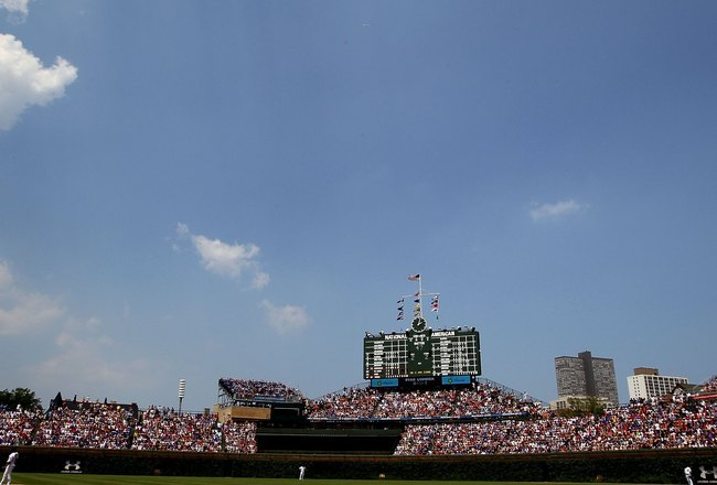 CHICAGO - MAY 30:  Wrigley Field is seen during the game between the St. Louis Cardinals and the Chicago Cubs on May 30, 2010 in Chicago, Illinois.  (Photo by Jim McIsaac/Getty Images)