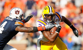 AUBURN, AL - OCTOBER 23:  Rueben Randle #2 of the LSU Tigers against Zac Etheridge #4 of the Auburn Tigers at Jordan-Hare Stadium on October 23, 2010 in Auburn, Alabama.  (Photo by Kevin C. Cox/Getty Images)
