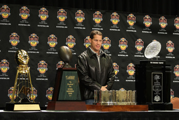 Remember when those trophies were surrounding Florida's coach?