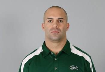EAST RUTHERFORD, NJ - 2009:  Sal Alosi of the New York Jets poses for his 2009 NFL headshot at photo day in East Rutherford, New Jersey.  (Photo by NFL Photos)