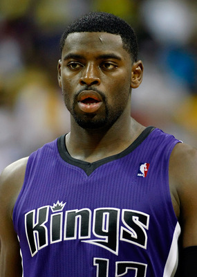 LAS VEGAS - OCTOBER 13:  Tyreke Evans #13 of the Sacramento Kings stands on the court during a preseason game against the Los Angeles Lakers at the Thomas &amp; Mack Center October 13, 2010 in Las Vegas, Nevada. The Lakers won 98-95. NOTE TO USER: User expres