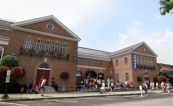 COOPERSTOWN, NY - JULY 24:  The Baseball Hall Of Fame and Museum is seen during induction weekend on July 24, 2010 in Cooperstown, New York.  (Photo by Jim McIsaac/Getty Images)