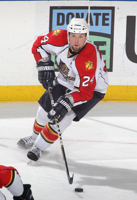 BUFFALO, NY - DECEMBER 23:  Bryan McCabe #24 of the Florida Panthers skates against the Buffalo Sabres  at HSBC Arena on December 23, 2010 in Buffalo, New York. Florida won 4-3.  (Photo by Rick Stewart/Getty Images)