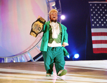 Looking at this picture will make you feel the same way about Hornswoggle as I do (if you don't already).
