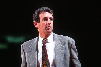 9 May 1994: PHOENIX COACH PAUL WESTPHAL DURING THE SUNS GAME AGAINST THE DENVER NUGGETS AT MCNICHOLS SPORTS ARENA IN DENVER, COLORADO.