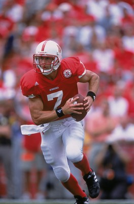 25 Aug 2001:  Quarterback Eric Crouch #7 of the Nebraska Cornhuskers running with the ball during the game against the Texas Christian (TCU) Horned Frogs at Memorial Stadium in Lincoln, Nebraska. The Cornhuskers defeated the Horned Frogs 21-7.Mandatory Cr