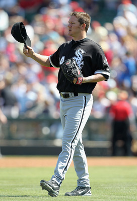 TEMPE, AZ - MARCH 12:  Starting pitcher Jake Peavy #44 of the Chicago White Sox walks to the mound during the MLB spring training game against the Los Angeles Angels of Anaheim at Tempe Diablo Stadium on March 12, 2010 in Tempe, Arizona.  The White Sox de