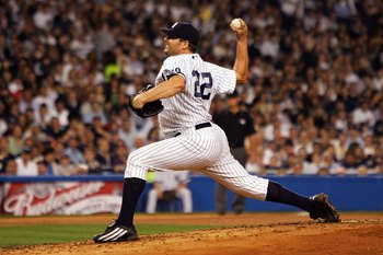 NEW YORK - OCTOBER 07:  Starting pitcher Roger Clemens #22 of the New York Yankees deals against the Cleveland Indians during Game Three of the American League Division Series at Yankee Stadium on October 7, 2007 in the Bronx borough of New York City.  (P