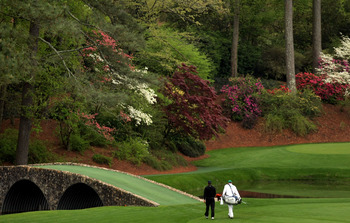 The Hogan Bridge at Augusta National is one of many iconic locations on the legendary course.