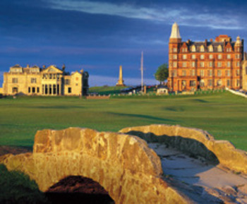 "St. Andrews Links in Scotland holds onto the title of ""Best Golf Course in the World""."