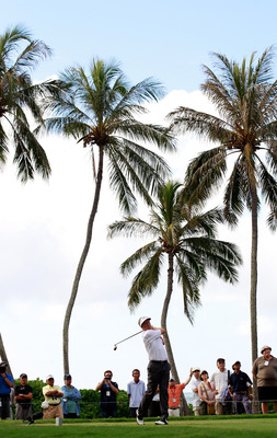HONOLULU, HI - JANUARY 16:  Stuart Appleby of Australia plays a shot during the third round of the Sony Open at Waialae Country Club on January 16, 2011 in Honolulu, Hawaii.  (Photo by Sam Greenwood/Getty Images)