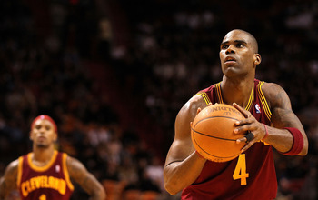 MIAMI, FL - DECEMBER 15:  Antawn Jamison #4  of the Cleveland Cavaliers shoots a free throw during a game against the Miami Heat at American Airlines Arena on December 15, 2010 in Miami, Florida. NOTE TO USER: User expressly acknowledges and agrees that,