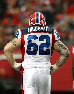 ATLANTA - DECEMBER 27:  Richie Incognito #62 of the Buffalo Bills against the Atlanta Falcons at Georgia Dome on December 27, 2009 in Atlanta, Georgia.  (Photo by Kevin C. Cox/Getty Images)