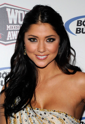LAS VEGAS, NV - DECEMBER 01:  Ring girl and model Arianny Celeste arrives at the third annual Fighters Only World Mixed Martial Arts Awards 2010 at the Palms Casino Resort December 1, 2010 in Las Vegas, Nevada.  (Photo by Ethan Miller/Getty Images)