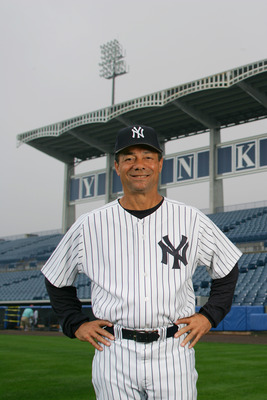 TAMPA, FL - FEBRUARY 25:  First Base Coach Roy White of the New York Yankees poses for a portrait during Yankees Photo Day at Legends Field on February 25, 2005 in Tampa, Florida. (Photo by Ezra Shaw/Getty Images)