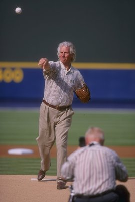 31 Mar 1998:  Announcer and former player Don Sutton of the Atlanta Braves in action during a game against the Milwaukee Brewers at Turner Field in Atlanta, Georgia. The Braves defeated the Brewers 2-1. Mandatory Credit: Andy Lyons  /Allsport