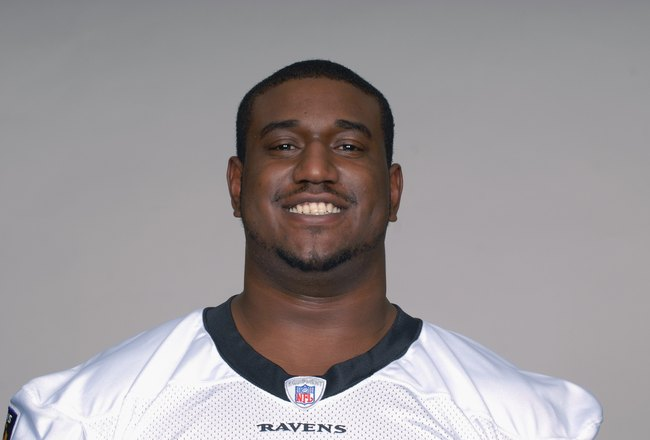 BALTIMORE - 2009:  Jared Gaither of the Baltimore Ravens poses for his 2009 NFL headshot at photo day in Baltimore, Maryland. (Photo by NFL Photos)