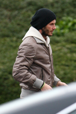 CHIGWELL, UNITED KINGDOM - JANUARY 11: David Beckham sighted leaving Tottenham Hotspur's training complex on January 11, 2011 in Chigwell, England. (Photo by Neil Mockford/Getty Images)