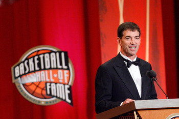 SPRINGFIELD, MA - SEPTEMBER 11:  John Stockton is inducted into the Naismith Memorial Basketball Hall of Fame during an induction ceremony on September 11, 2009 in Springfield, Massachusetts. NOTE TO USER: User expressly acknowledges and agrees that, by d