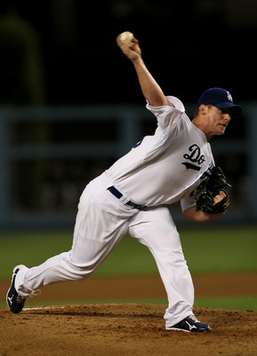 LOS ANGELES, CA - SEPTEMBER 03:  Chad Billingsley #58 of the Los Angeles Dodgers throws a pitch against the San Francisco Giants on September 3, 2010 at Dodger Stadium in Los Angeles, California.  (Photo by Stephen Dunn/Getty Images)
