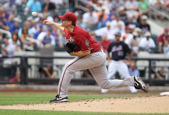 NEW YORK - AUGUST 01: Daniel Hudson #41 of the Arizona Diamondbacks pitches against the New York Mets at Citi Field on August 1, 2010 in the Flushing neighborhood of the Queens borough of New York City.  (Photo by Nick Laham/Getty Images)