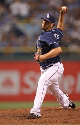 ST PETERSBURG, FL - OCTOBER 07:  James Shields #33 the Tampa Bay Rays pitches during Game 2 of the ALDS against the Texas Rangers at Tropicana Field on October 7, 2010 in St. Petersburg, Florida.  (Photo by Mike Ehrmann/Getty Images)
