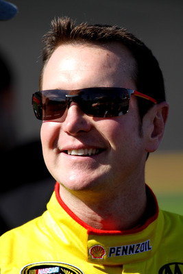 DAYTONA BEACH, FL - FEBRUARY 13:  Kurt Busch, driver of the #22 Shell/Pennzoil Dodge, looks on during qualifying for the NASCAR Sprint Cup Series Daytona 500 at Daytona International Speedway on February 13, 2011 in Daytona Beach, Florida.  (Photo by Jerr