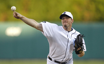 DETROIT - JULY 02:  Max Scherzer #37 of the Detroit Tigers pitches in the third inning during the game against the Seattle Mariners on July 2, 2010 at Comerica Park in Detroit, Michigan.  The Tigers defeated the Mariners 7-1. (Photo by Leon Halip/Getty Im