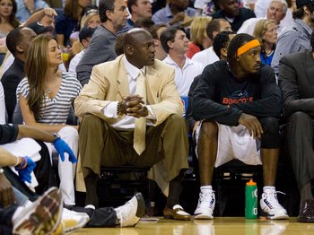 Michael Jordan and Gerald Wallace