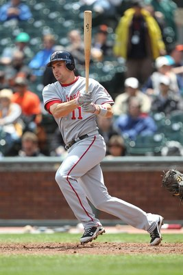 SAN FRANCISCO - MAY 27:  Ryan Zimmerman #11 of the Washington Nationals bats against the San Francisco Giants during an MLB game at AT&T Park on May 27, 2010 in San Francisco, California.  (Photo by Jed Jacobsohn/Getty Images)