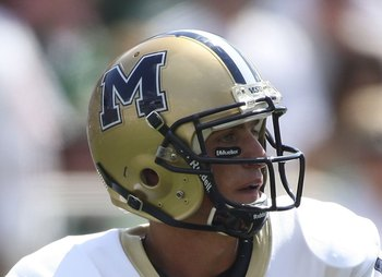 EAST LANSING, MI - SEPTEMBER 05:  Mark Iddins #16 of the Montana State Bobcats drops back to pass against the Michigan State Spartans in the third quarter on September 5, 2009 at Spartan Stadium in East Lansing, Michigan.  (Photo by Leon Halip/Getty Image
