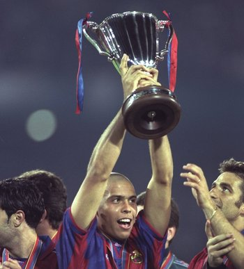 The day Barcelona won the UEFA Cup Winners Cup, Ronaldo's first European title.
