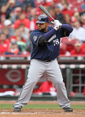 CINCINNATI - MAY 18:  Prince Fielder #28 of the Milwaukee Brewers is pictured during the game against the Cincinnati Reds at Great American Ball Park on May 18, 2010 in Cincinnati, Ohio.  (Photo by Andy Lyons/Getty Images)