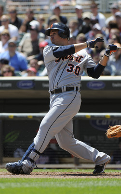 MINNEAPOLIS, MN - JUNE 30: Magglio Ordonez #30 of the Detroit Tigers bats in the fourth inning against the Minnesota Twins during their game on June 30, 2010 at Target Field in Minneapolis, Minnesota. Twins won 5-1. (Photo by Hannah Foslien /Getty Images)