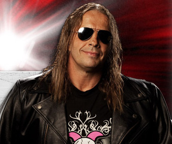"""Hitman"" in a 2010 WWE Publicity shot."