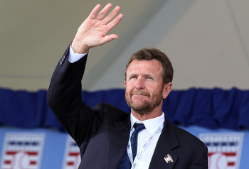 COOPERSTOWN, NY - JULY 25:  Hall of Famer Robin Yount attends the Baseball Hall of Fame induction ceremony at Clark Sports Center on July 25, 20010 in Cooperstown, New York.  (Photo by Jim McIsaac/Getty Images)