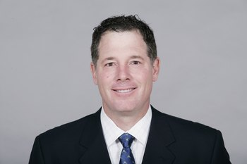 ST. LOUIS - 2009:  Pat Shurmur of the St. Louis Rams poses for his 2009 NFL headshot at photo day in St. Louis, Missouri.  (Photo by NFL Photos)