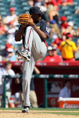 ANAHEIM, CA - JULY 11:  World Futures All-Star Julio Tehaeran #39 of the Atlanta Braves throws a pitch during the 2010 XM All-Star Futures Game at Angel Stadium of Anaheim on July 11, 2010 in Anaheim, California.  (Photo by Stephen Dunn/Getty Images)