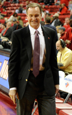 Lon Kruger will be smiling in March if UNLV battles its way to a bid.