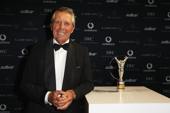 ABU DHABI, UNITED ARAB EMIRATES - FEBRUARY 07:  Academy member Gary Player attends the 2011 Laureus World Sports Awards at the Emirates Palace on February 7, 2011 in Abu Dhabi, United Arab Emirates.  (Photo by Ian Walton/Getty Images for Laureus)