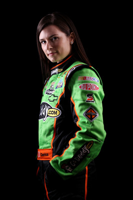 DAYTONA BEACH, FL - FEBRUARY 10:  Danica Patrick, driver of the #7 GoDaddy.com Chevrolet, poses during the 2011 NASCAR Nationwide Series Media Day at Daytona International Speedway on February 10, 2011 in Daytona Beach, Florida.  (Photo by Nick Laham/Gett